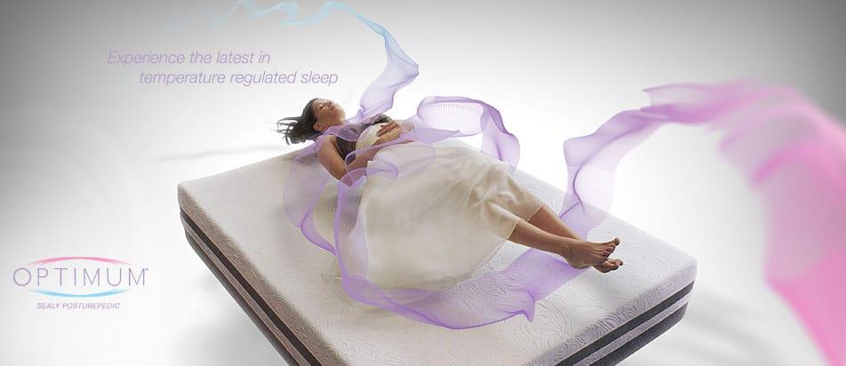 Sealy Optimum gel memory foam mattresses