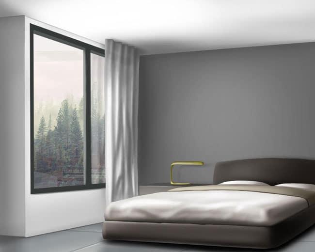 clean, modern bedroom